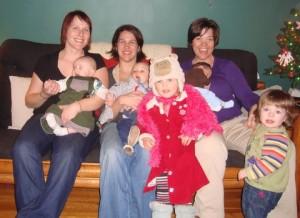lady friends & kids